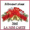 Bilboquet plage Noël la mini carte