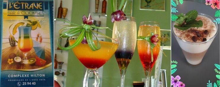 Tarifs - L'ÉTRAVE - Bar à cocktails, Café, Bar de nuit - Nouméa - Nouvelle-Calédonie