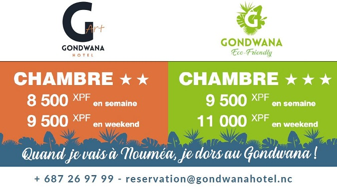 Tarifs - HOTEL GONDWANA Eco Friendly & Art - Nouméa - Nouvelle-Calédonie