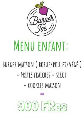 Pour les enfants - BURGER JOE - Restaurant produits frais et locaux - Nouméa - Nouvelle-Calédonie