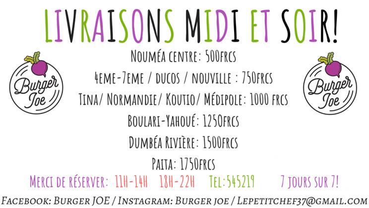 Offres spéciales - BURGER JOE - Restaurant produits frais et locaux - Nouméa - Nouvelle-Calédonie