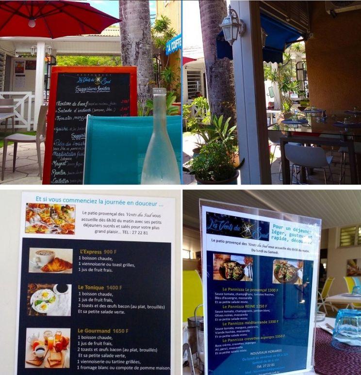 Tarifs - LES VENTS DU SUD - Restaurant méditerranéen - Nouméa - Nouvelle-Calédonie