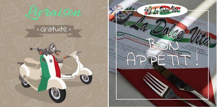 Offres spéciales - Pizzeria LA DOLCE VITA -  Restaurant italien - Pizzas au feu de bois,livraison ou à emporter -  Nouméa - Nouvelle-Calédonie