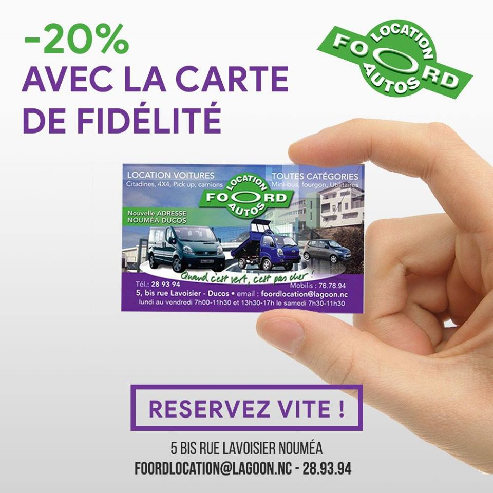 Affiliations - FOORD LOCATION - Location voitures et utilitaires - Nouméa - Nouvelle-Calédonie