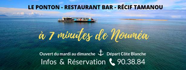 Tarifs - LE PONTON - Restaurant récif Tamanou - Nouméa - Nouvelle-Calédonie