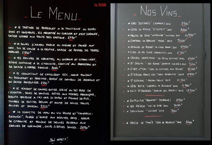 Tarifs - L'ALINÉA - Restaurant, Cuisine Traditionnelle - Nouméa - Nouvelle-Calédonie