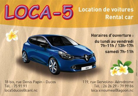 LOCA 5 - Location de voiture - Nouméa