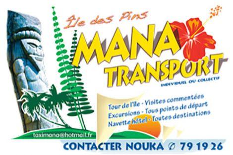 MANA TRANSPORT -  Excursions et Taxi  - Ile des Pins - Nouvelle Calédonie