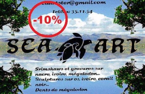 SEA ART - Scrimshaw, Gravures sur nacre & Dents de Mégalodon - Nouméa