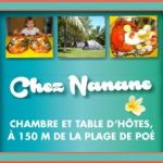 CHEZ NANANE - Chambre et Table d'hôtes, Camping, Excursions en mer - Poé plage - Bourail - Nouvelle-Calédonie